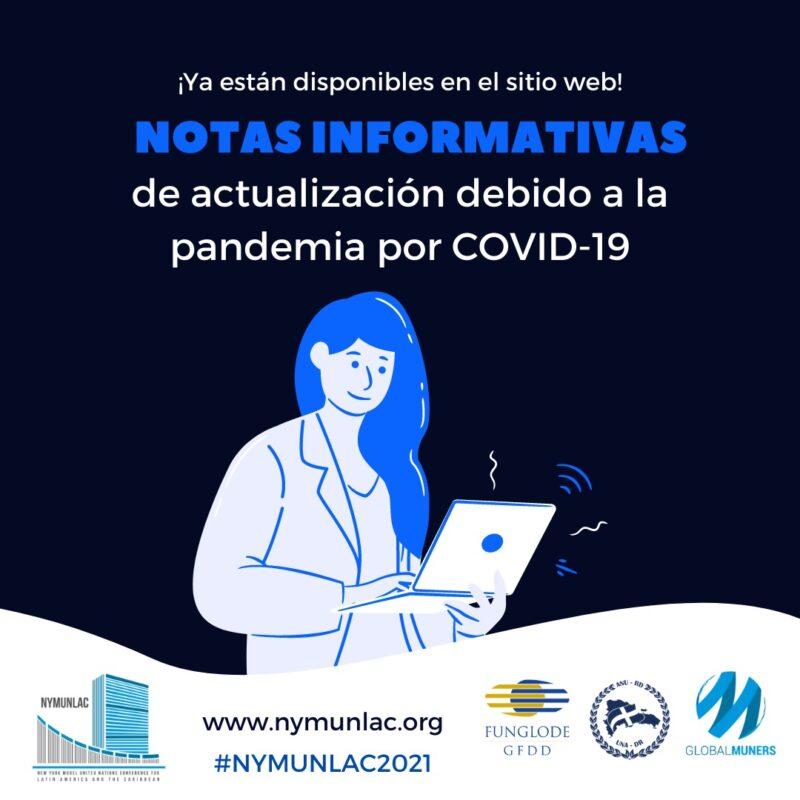 notas informativas de actualizacion debido a la pandemia por covid 19